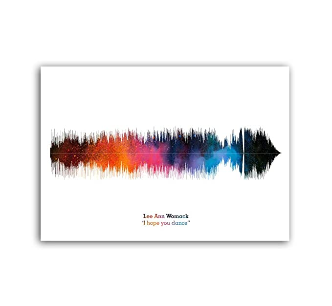 Lab No. 4 Lee ANN Womack I Hope You Dance Song Soundwave Lyrics Music Print: Amazon.es: Hogar