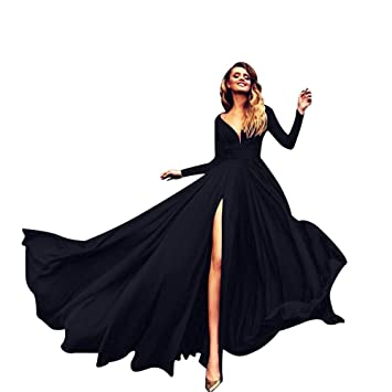 Image result for black flowy gown