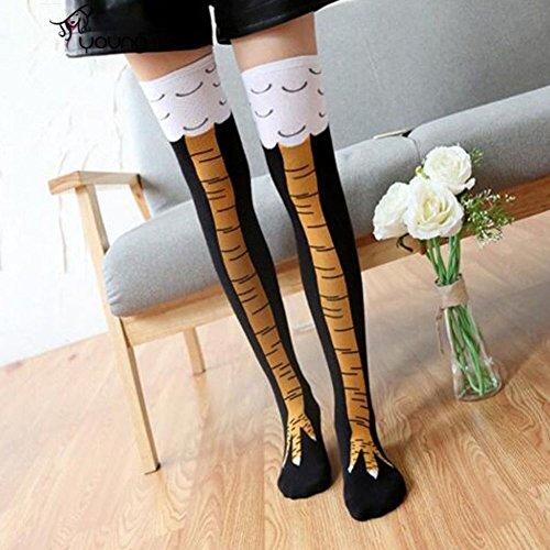 Funny Chicken Legs Knee-High Socks