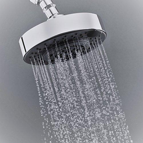 "Large Rain Mist - High Pressure Rainfall Shower Head – Best Multi Spray Luxury Chrome Shower-head with Powerful Rainfall, Massage and Mist Settings – Large 6"""