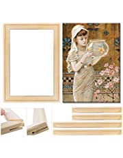 """Art Stretcher Bars Set, DIY Canvas Frame, Solid Wooden Frame for Oil Paintings & Canvas Arts Accessory Supply, Home Studio Decor, 40x50cm (16""""x20"""")"""