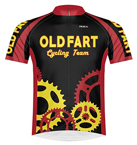 Primal Wear Old Fart Cycling Team Sprockets Jersey Men's XL Short Sleeve ()