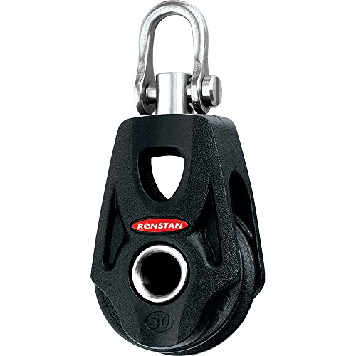 (Ronstan Series 30 Ball Bearing Orbit Block&153; - Single - Becket - Swivel Shackle Head)