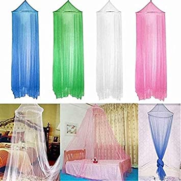 Universal Dome Mosquito Mesh Net Easy Installation Hanging Bed Canopy Netting for Home /& Travel-1pc