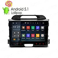 XTRONS 9 inch Android 5.1 Quad Core HD Capacitive Touch Screen Car Stereo Radio In Dash Player GPS OBD Built-in DAB+ Tuner for Kia Sportage 2010-2016