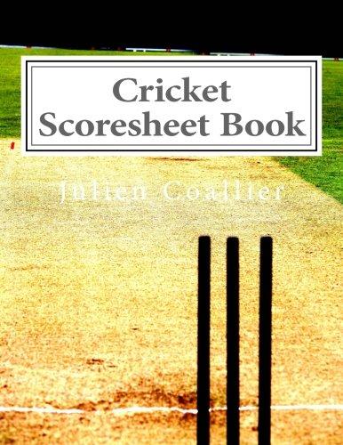 Cricket Scoresheet Book  Pages  Sheets Julien Coallier