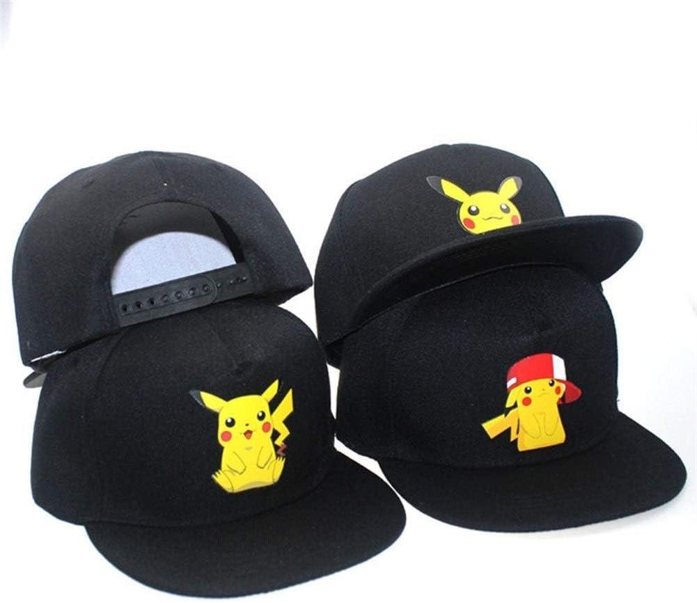 Xingya Nuovi Cartoni Animati Anime Pokemon Pikachu Stampa Logo Berretti da Baseball Berretto Hip-Hop for Uomo Donna Unisex Estate Cappelli da Sole Regolabili