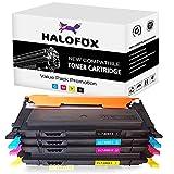 HaloFox Compatible Color Toner Cartridges Replacement For Samsung CLT-K406S CLT-C406S CLT-M406S CLT-Y406S Use In Samsung CLX-3300 CLX-3305FW CLP-360 CLP-365W Xpress SL-C410W Xpress SL-C460FW -BCMY
