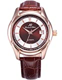 KS Imperial Men's Analog Automatic Mechanical Date display Leather Band Wrist Watch KS258
