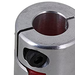 CNBTR Silver 6x10mm Electrical Industrial Absorb Vibration CNC Plum Coupling