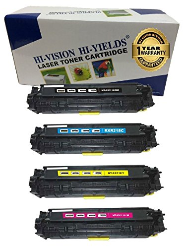 HI-VISION Compatible Canon 118 Black 2662B001,118 Cyan 2661B001,118 Yellow 2659B001,118 Magenta 2660B001 Toner Cartridge for imageClass MF8580cdw,MF8380Cdw,MF8350Cdn,LBP7660cdn,LBP7200cdn 4 ()