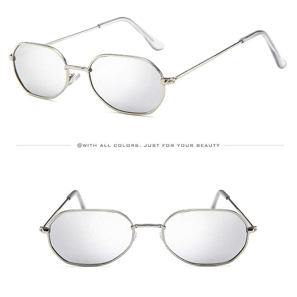 FRAUIT Hombres Mujeres Gafas de Sol Pequeñas Vintage Gafas ...