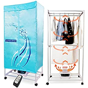 Concise Home Electric Clothes Dryer Indoors Tri Layers Fast Air Dry Hot Wardrobe Machine drying rack For Home & Dorms Clothes fragrance, aroma machine
