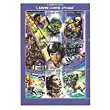 The Empire strikes back Star Wars mint and never mounted stamp sheet for collectors - 9 Stamps / 350F / 1997 Issue / Togo