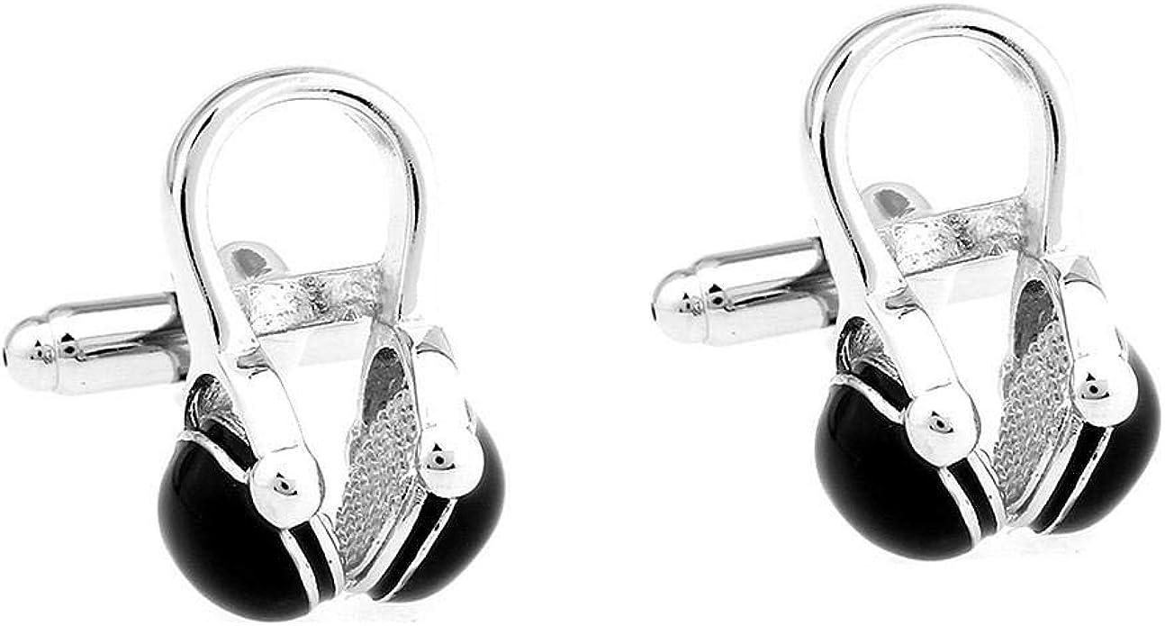 Gemelos,Personalidad, Moda De Negocios Versátil, Auriculares De Música Clásica Y Europea para Hombres, Divertidos Gemelos De Forma: Amazon.es: Joyería