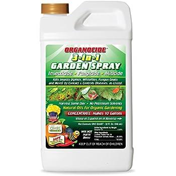 Organic Laboratories 100 021 Lab Qt Organocide 3 In 1 Garden Spray Home Pest
