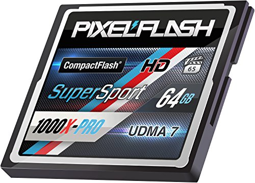 PixelFlash 64 GB SuperSport CompactFlash Memory Card 1106X Pro Fast Transfer Speeds up to 167MB/s for Photo and Video Storage by PixelFlash (Image #4)
