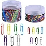Supla 2 Box 7 Colors Paper Clips Assorted Sizes Paperclips Colored Medium Large Smooth Office Accessories