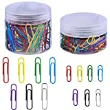 Supla 2 Box 7 Colors Paper Clips Assorted Sizes
