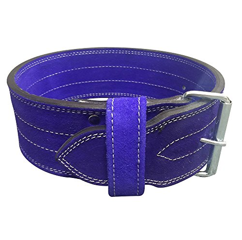 Flexz Fitness Single Prong Closure Powerlifting and Weightlifting Belt, 10mm, Violet, Size Medium