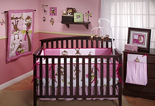 Little-Bedding-3-Little-Monkeys-Crib-Bumper-Girl