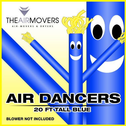 [20FT Blue Skyer  Wacky Waving Inflatable Fly Sky Guy Puppet Advertising Dancing Tube] (Inflatable Wacky Waving Tube Man)
