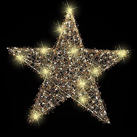 118m commercial giant copper wire hanging 3d star with warm white leds christmas display suitable