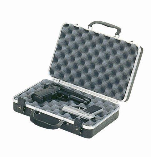 Plano 10402 Gun Guard DLX Two Pistol Case Aluminum Hard Gun Case