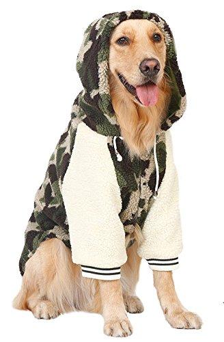 MaruPet Winter Warm Fleece Big Large Dog Coat Jacket Camouflage Dog Puppy Hoodie Pajamas Clothing Golden Retriever Pitbull Dog Clothes 7XL