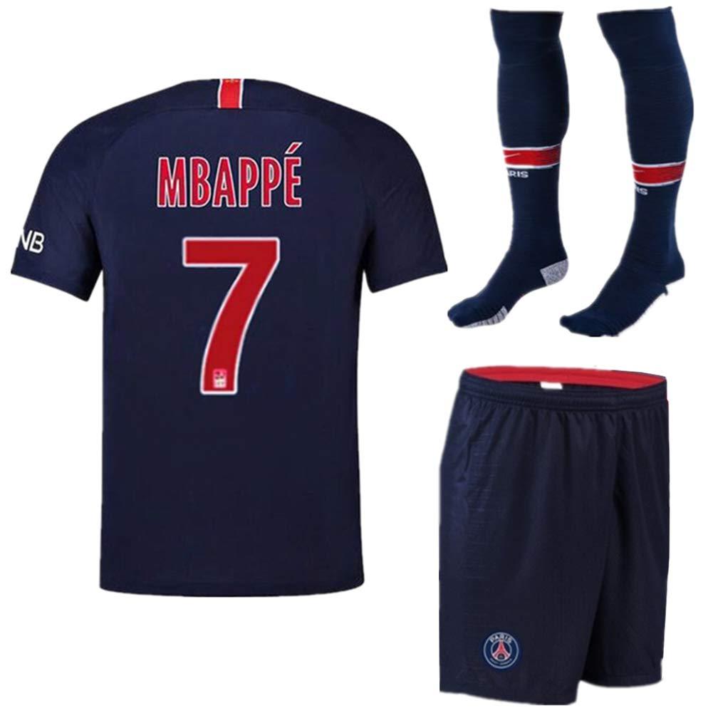 5d55f0d00 Mbappe Jersey Youth Kids 7  Paris Saint-Germain Home PSG Soccer Jersey