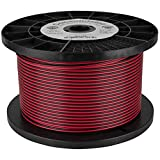Consolidated 14 AWG 2-conductor Power Speaker Wire 1,000 ft. (Red/Black)