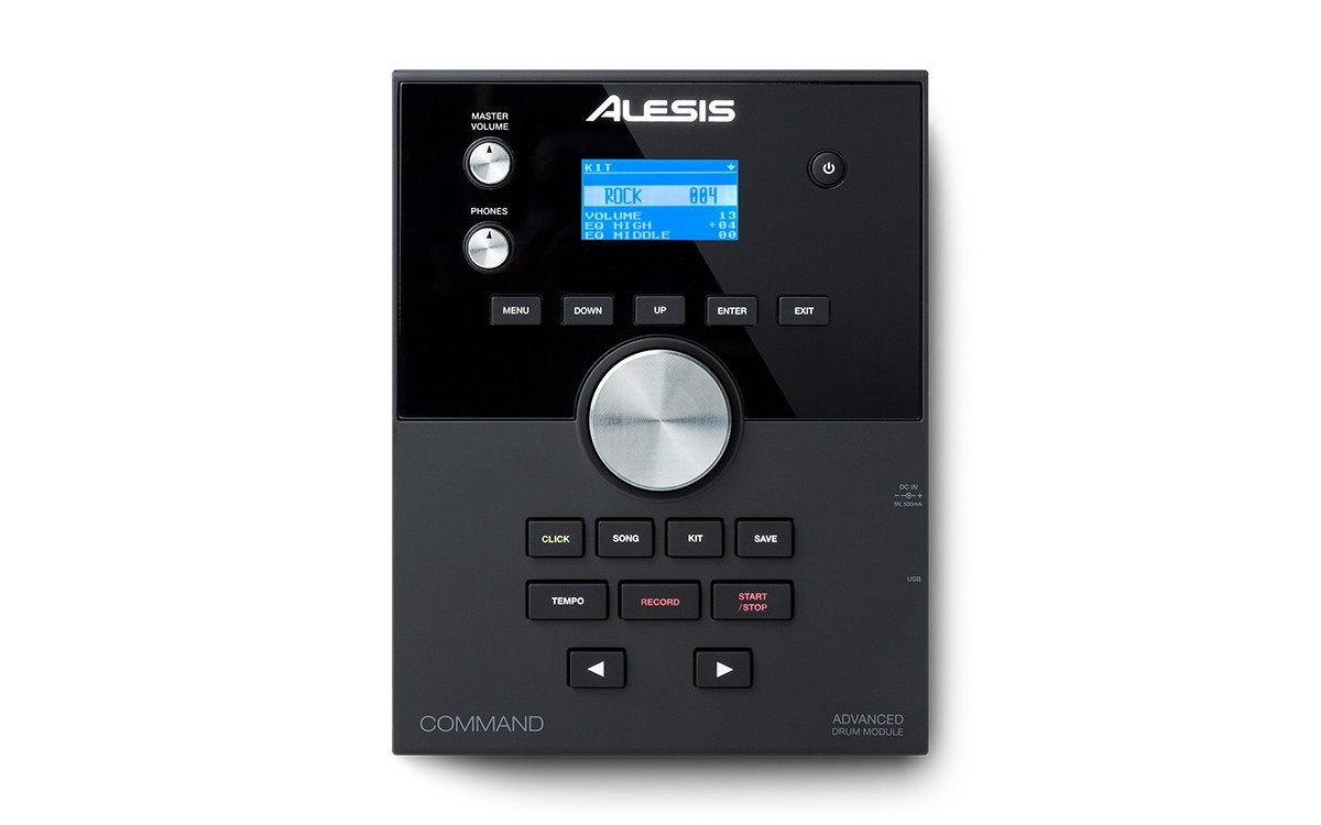 Alesis Command Kit   Eight-Piece Electronic Drum Set with Mesh Snare and Mesh Kick and USB Port for User-Loaded Samples by Alesis (Image #2)