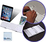 Foldable Wireless Keyboard with Touchpad for Smartphones, Tablets, Computers, iPhones, Samsung, Android, iPads + eCostConnection Microfiber Cloth