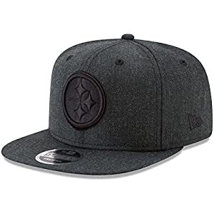 Era Pittsburgh Steelers 9Fifty Black & White Logo Adjustable Snapback Hat NFL by New Era