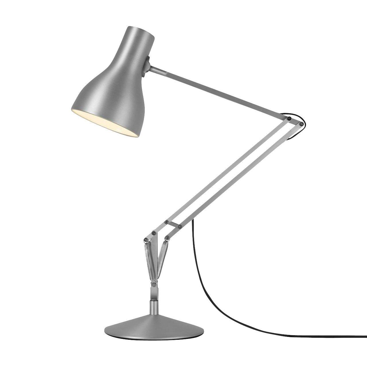 Anglepoise Type 75 Schreibtischleuchte, silber Lustre matt LxB 32x20cm H 53-66cm inkl. LED E27 6W 2700K 470lm CRI80