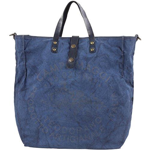 Campomaggi , Cabas pour femme bleu Denim/BlueSTampa