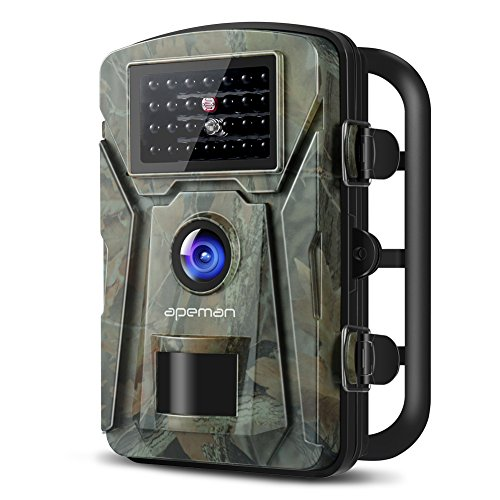 【New Version】 APEMAN Trail Camera 12MP 1080P 2.4' LCD Game&Hunting Camera with 940nm Upgrading IR LEDs Night Vision up to 65ft/20m IP66 Spray Water Protected Design