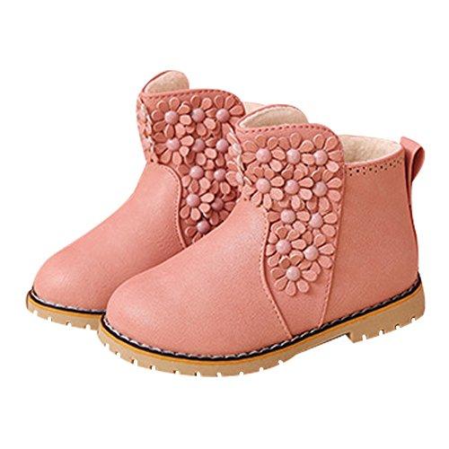 Mädchen Schnee Stiefel mit Blumen - LOSORN ZPY Winter Halbschaft Stiefel Outdoor Boots