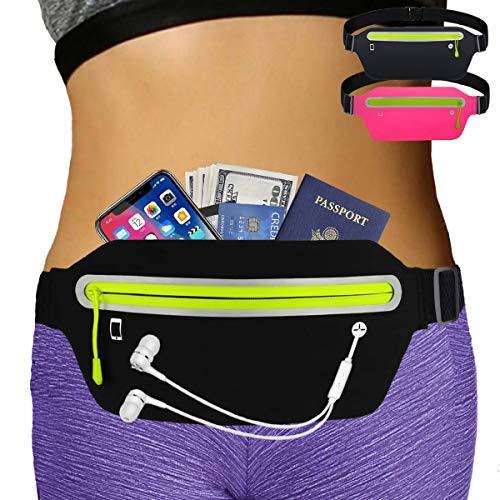 AIKENDO Slim iPhone Running Pouch Belt,Bounce Free Running Waist Pack iPhone X XR 7 8 Plus,Ultra Light Runners Belt for Men Women,Reflective Running Fanny Pack for Jogging,Gym,Travelling