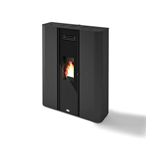 Eva Calor Estufa a PELLAS Diletta 10,5 Kw Color Negro