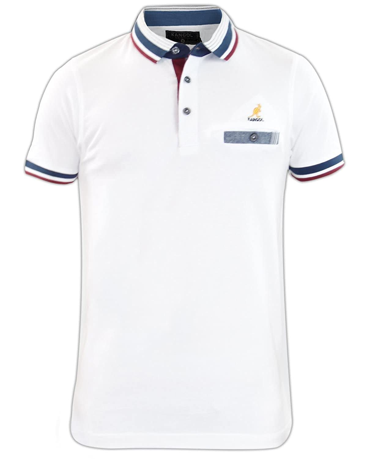 d04d9506 Kangol Mens Polo Shirt Button Up Collared T-shirt Designer Top Sizes S-XL:  Amazon.co.uk: Clothing