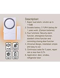 Alarma de seguridad para el hogar inalámbrica, sensor magnético, alarma de ventana, super fuerte 110 dB, alarma de puerta de piscina para niños, paquete de 4