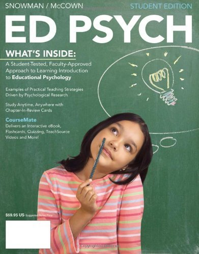 ED PSYCH by Snowman, Jack, McCown, Rick [Cengage,2012] (Paperback)