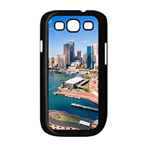 Okaycosama Downtown Sydney Australia Samsung Galaxy S3 Case for Girls, Samsung Galaxy S3 Cases for Mens [Black]