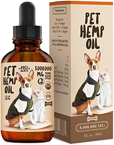 CHARLIE & BUDDY Hemp Oil Dogs Cats - Hip Joint Health - 100% Organic Drops - Omega 3, 6, 9 & Vitamins B, C, E