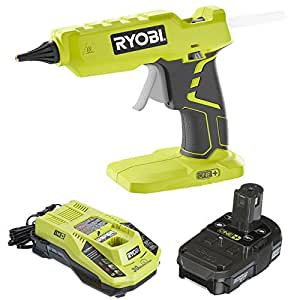 Ryobi Glue Gun P305 with Charger & Lithium-ion battery P128 (Certified Refurbished)