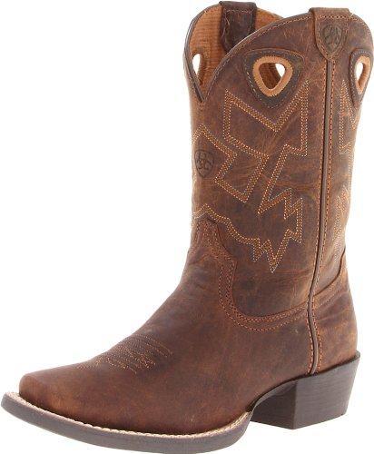Kids' Charger Western Boot,Distressed Brown,5 M US Big Kid