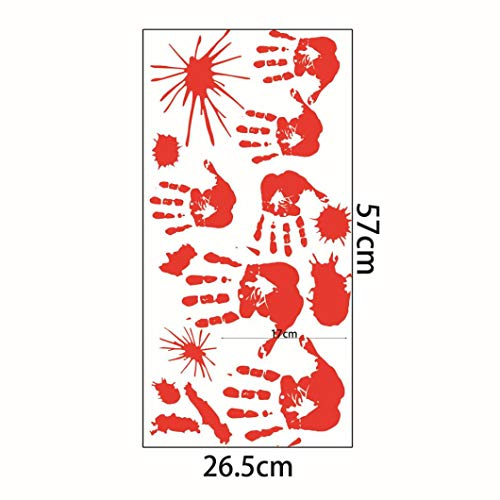 NewKelly Halloween Haunted House Decor Window Door Cover Sticker Zombie Hand 78X30 inches (Red) (Holder Mirror Dragon Candle Wall)