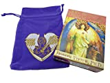 Archangel Oracle Cards by Doreen Virtue with Luxury Velvet Embroidered Archangel Michael Drawstring Storage Bag