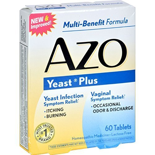AZO Yeast Infection Prevention - 60 Tablets, Pack of 4 (S...